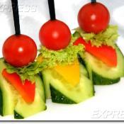 Шпажка из свежих овощей и зелени